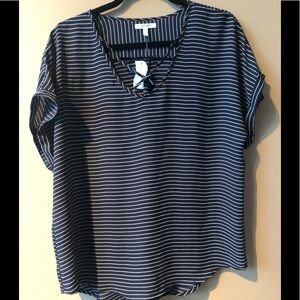 Maurices Striped Shirt with Cris Cross detail.